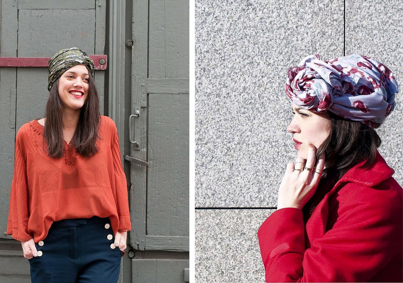 Shandor l'atelier d'al tuto foulard 3 façons de nouer son foulard