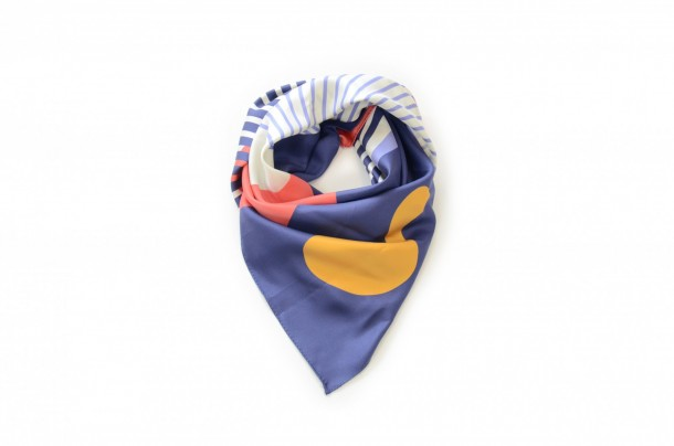 Foulard Shandor Twin Peaks, Damn Fine Coffee, foulard en soie made in France