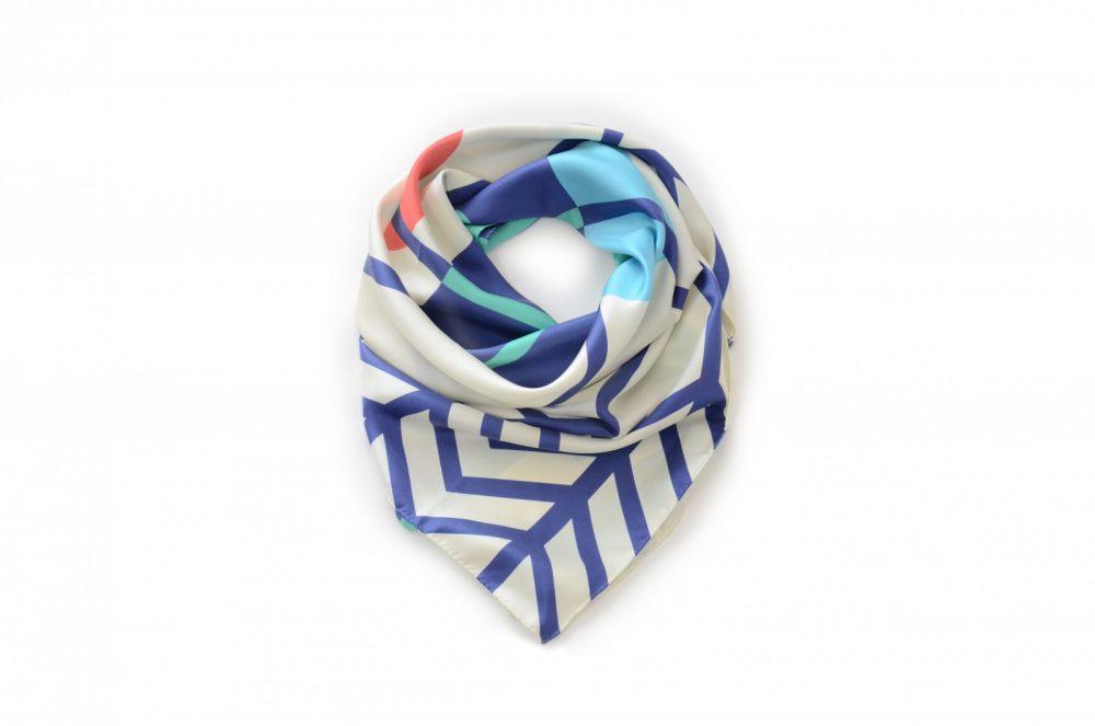 Foulard Shandor Twin Peaks, Into The Woods, foulard en soie made in France