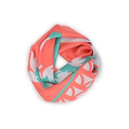 Shandor foulard suspiria, soie et encres écologiques, made in France