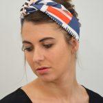 Headband en coton bio Shandor, mode ethique et responsable, made in France