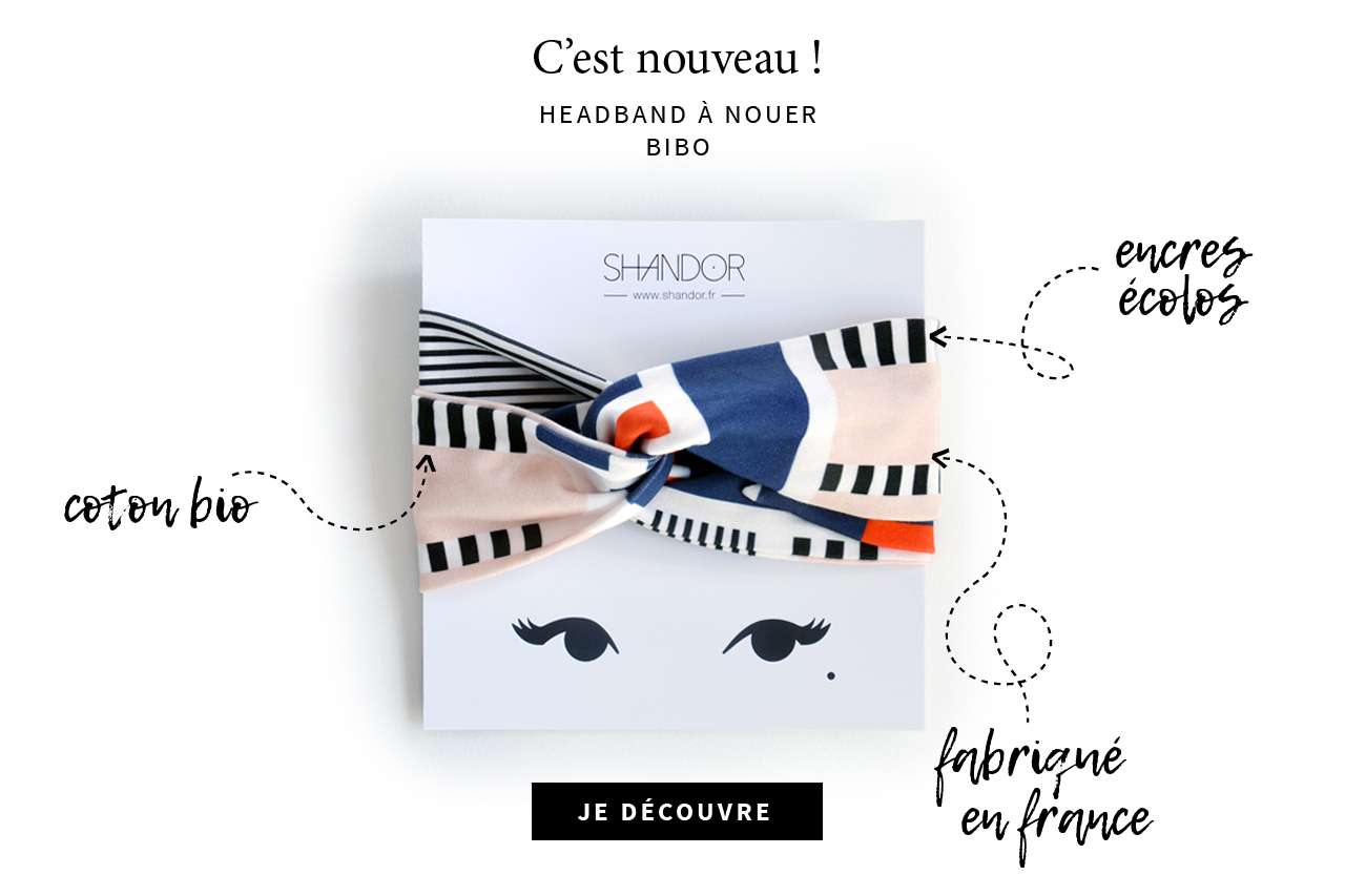 Shandor Headband coton bio made in France