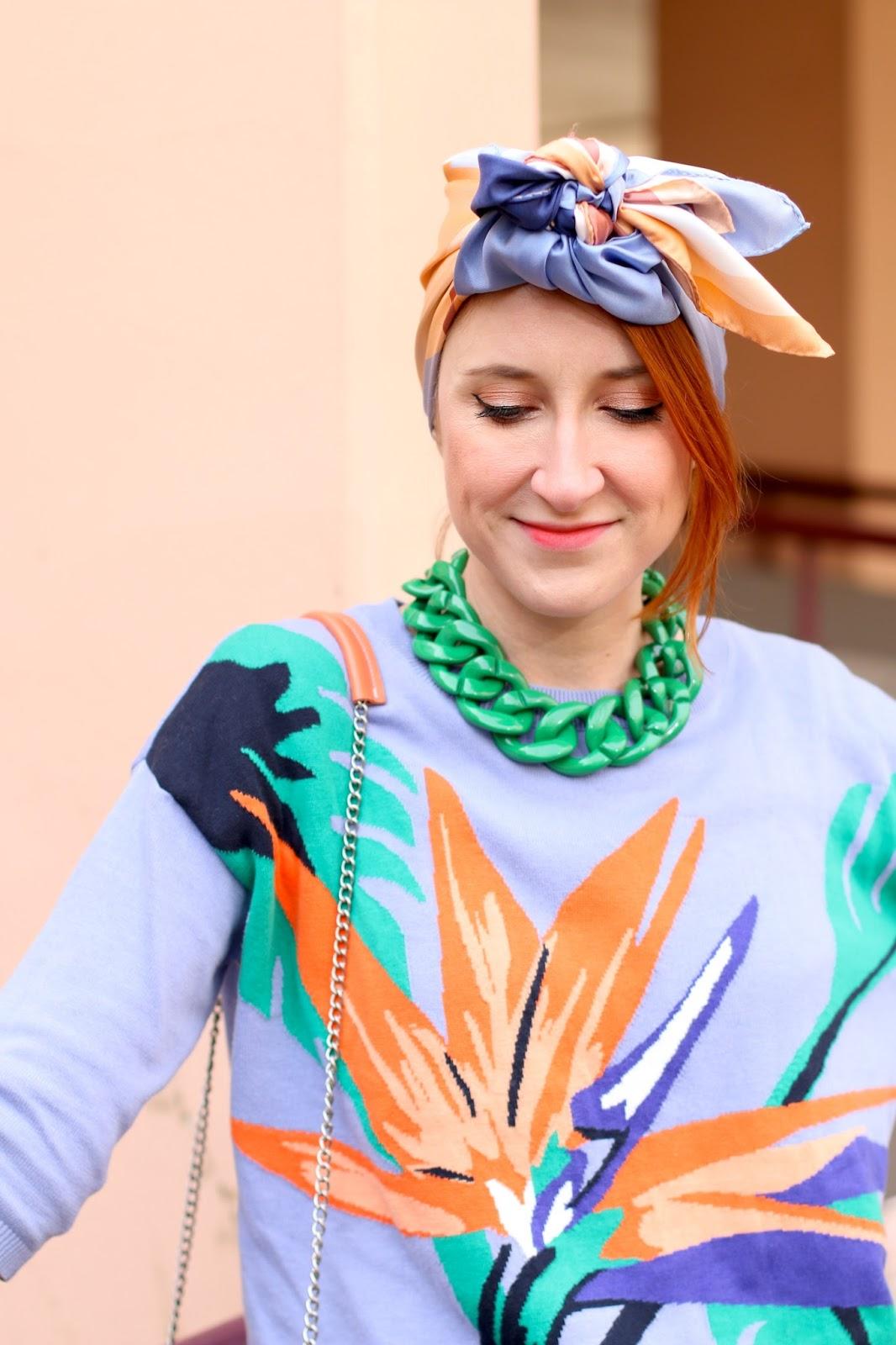 Slanelle, Shandor, foulard turban, foulard pastel