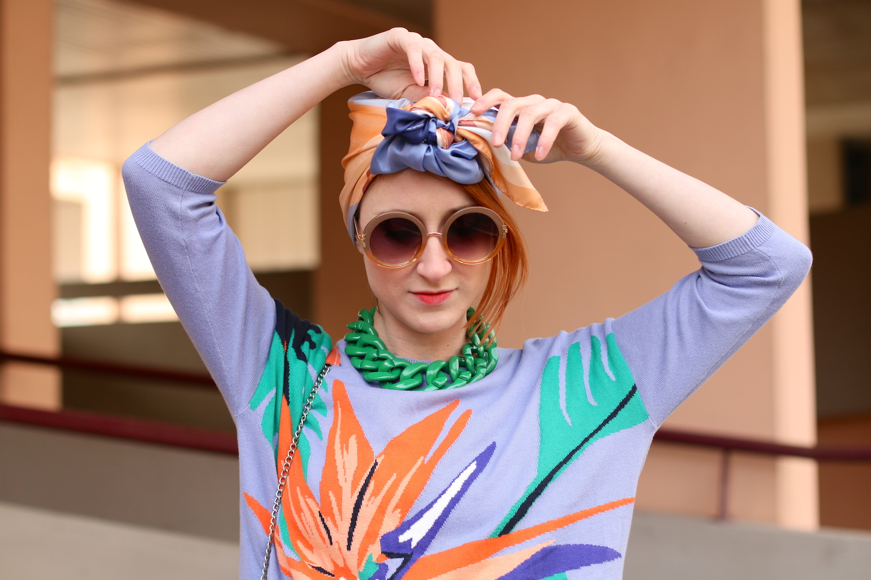 Slanelle, foulard turban, nouer son foulard en turban, Shandor