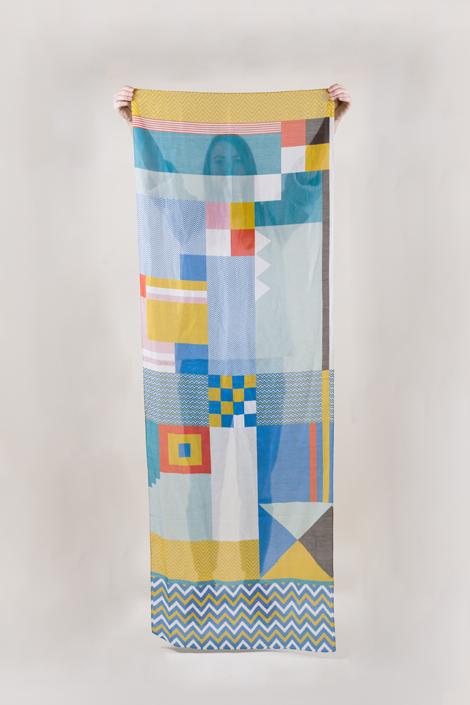 Shandor foulard coton et soie Benita