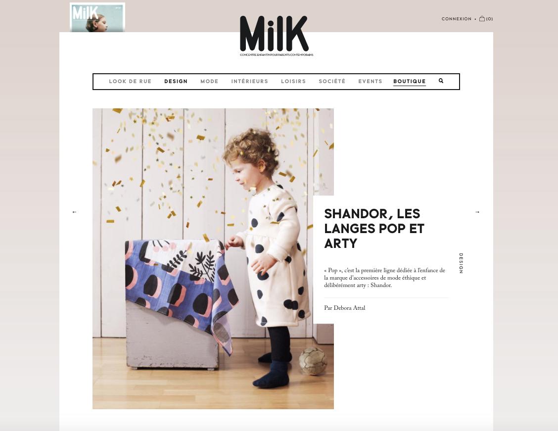 Milk magazine Shandor