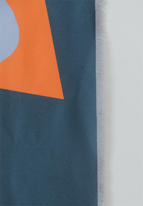 Shandor textile mural prelude en tissu recyclé formes art moderne