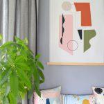 Shandor textile decoratif textile mural tenture kakemono graphique createur français