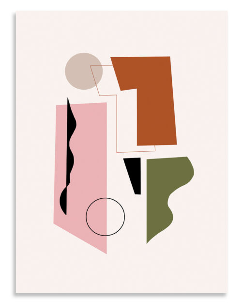 Affiche art contemporain concerto rose, Made in France