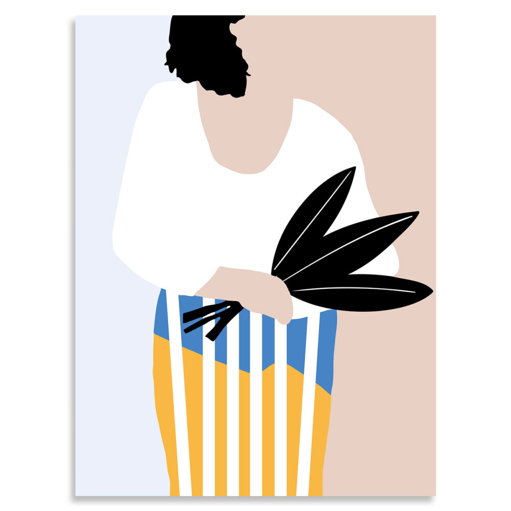 Affiche femme au bouquet, Made in France