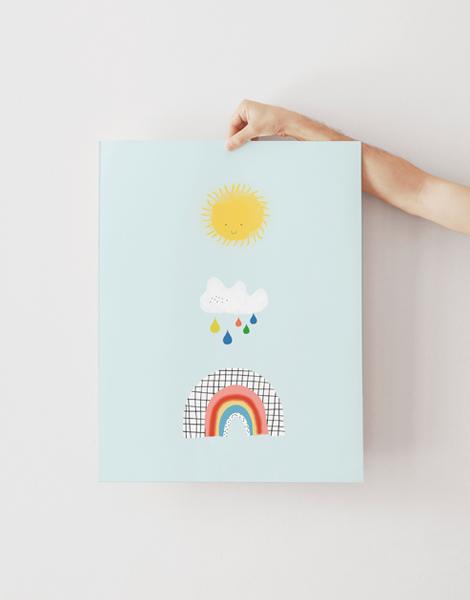 Shandor illustration affiche poster sur papier d'art arc en ciel