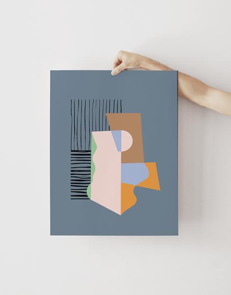 Shandor illustration affiche poster sur papier d'art prelude gris