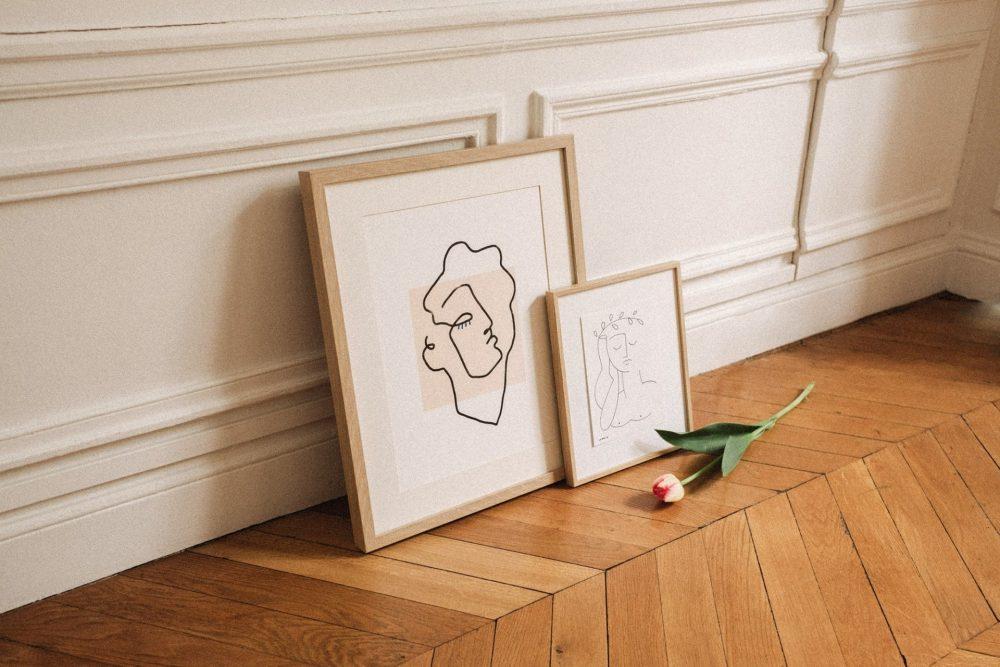 Affiche Line art Apollon beige shandor chez Pomelo
