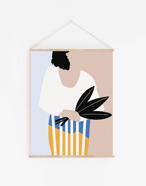 tenture-shandor-femme-au-bouquet