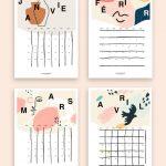 free printable calendar 2019 Shandor calendrier 2019 en téléchargement libre