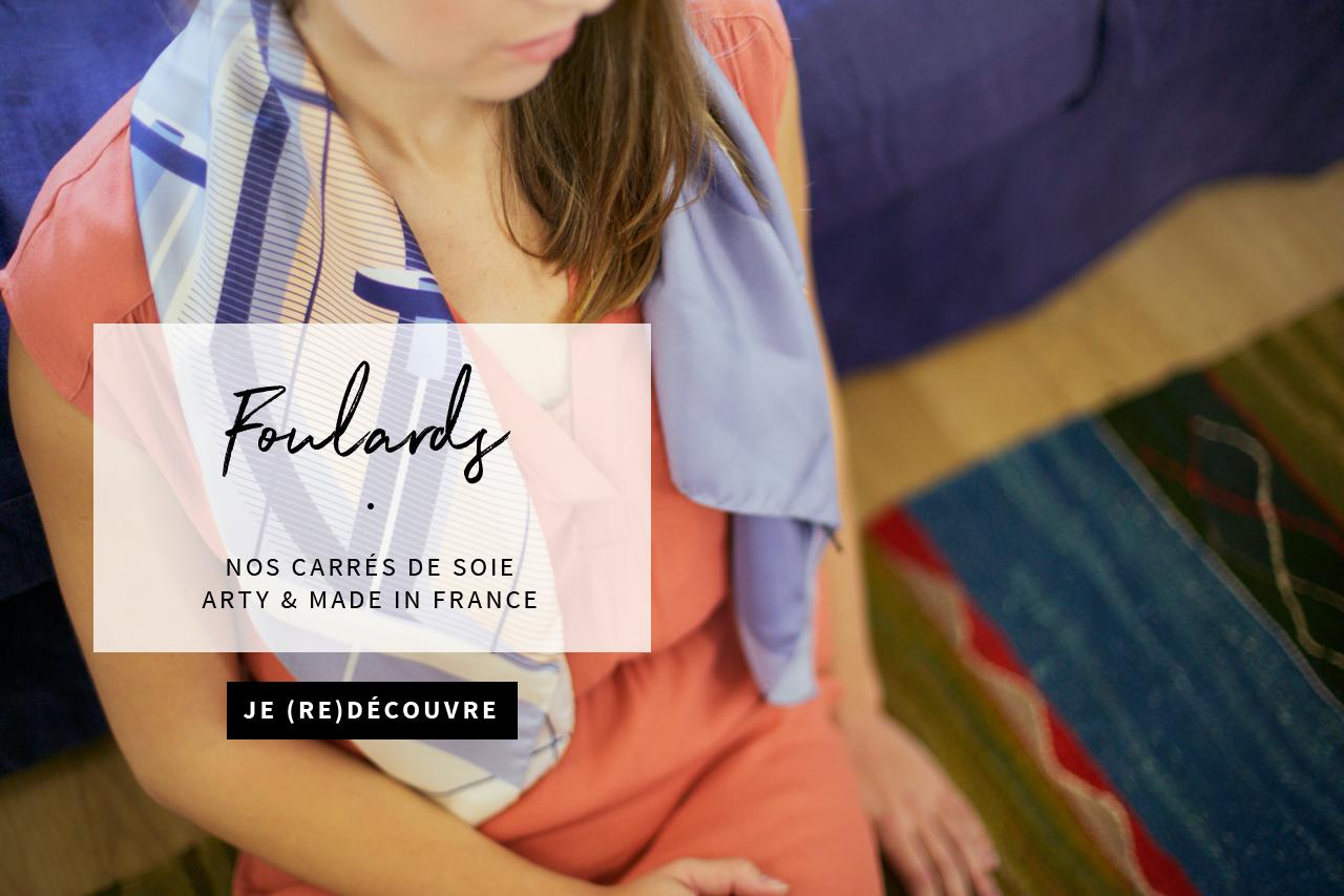 Shandor foulards caen made in france carrés de soie