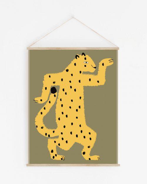 decoration murale leopard guepard shandor