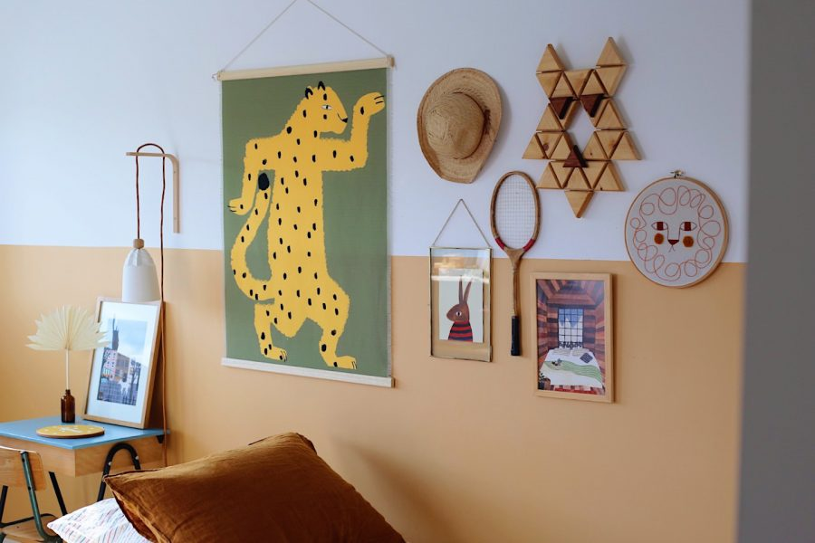 Décoration murale enfant léopard, Made in France