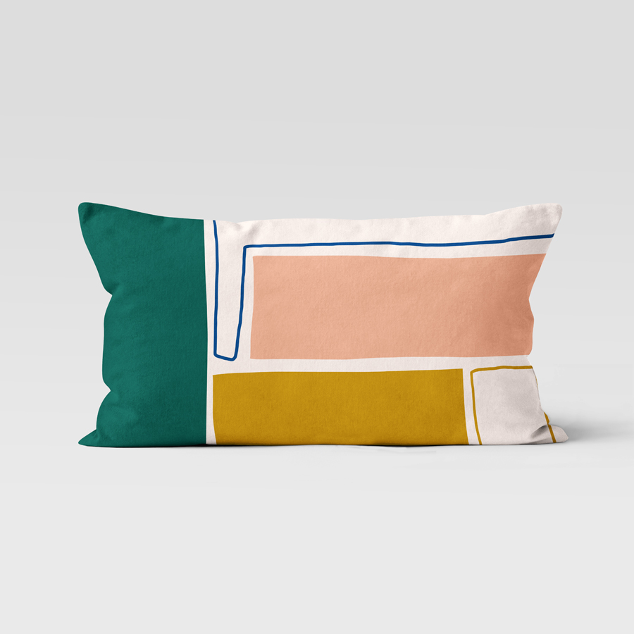 Coussin rectangulaire en velours Petra, Made in France