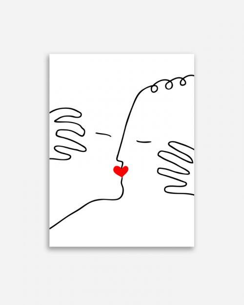 Affiche shandor baiser amour