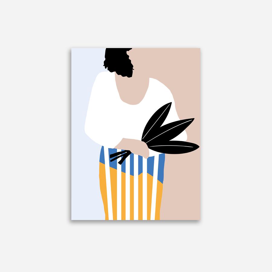 Shandor Affiche Femme au Bouquet