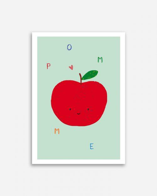 Affiche Pomme A4 Shandor