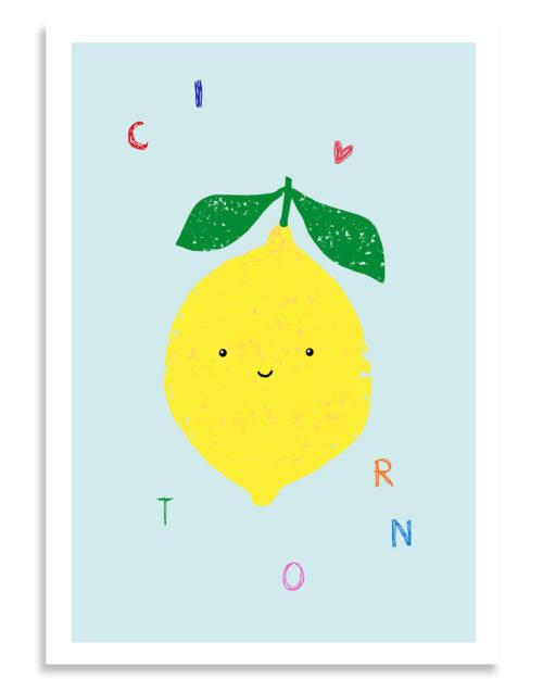 Affiche citron