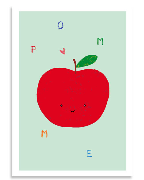 affiche pomme, Made in France