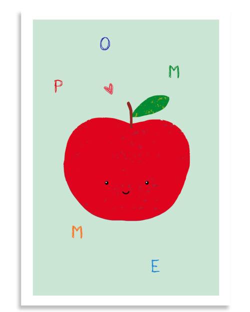 affiche pomme