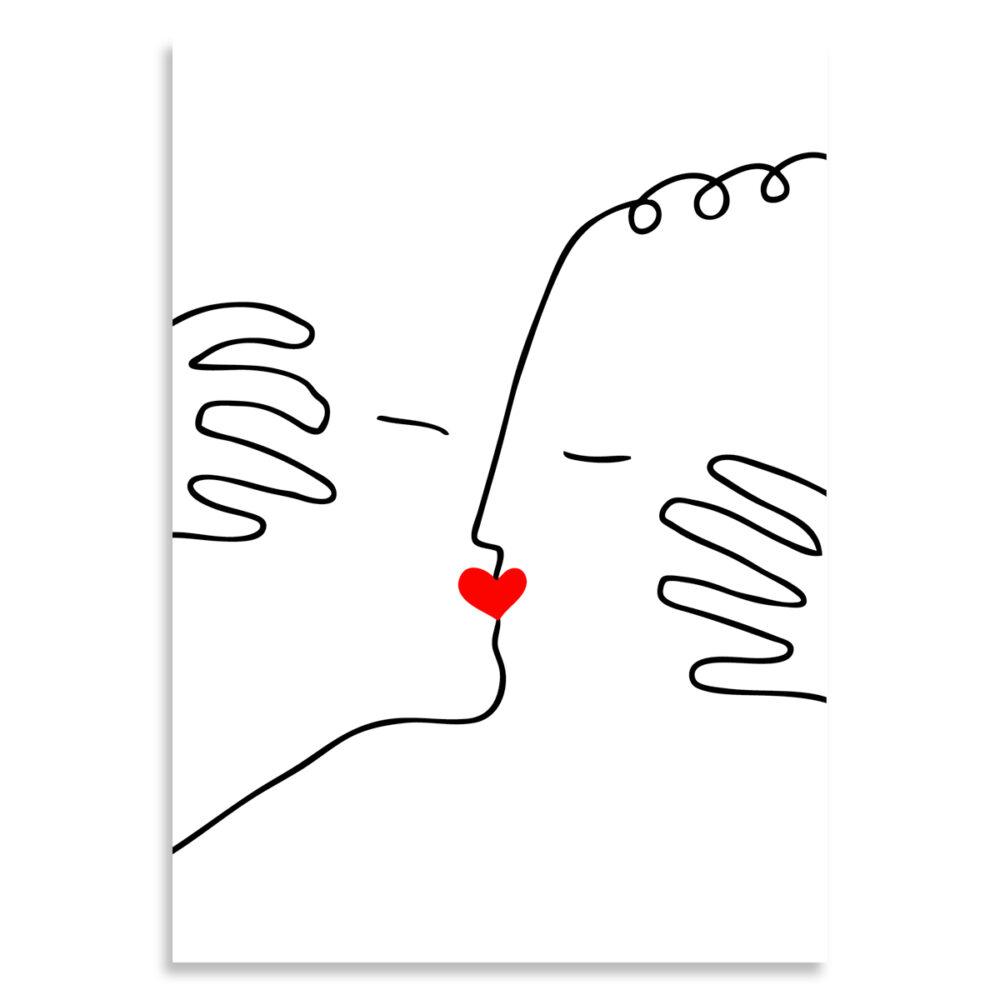 Affiche baiser d'amour