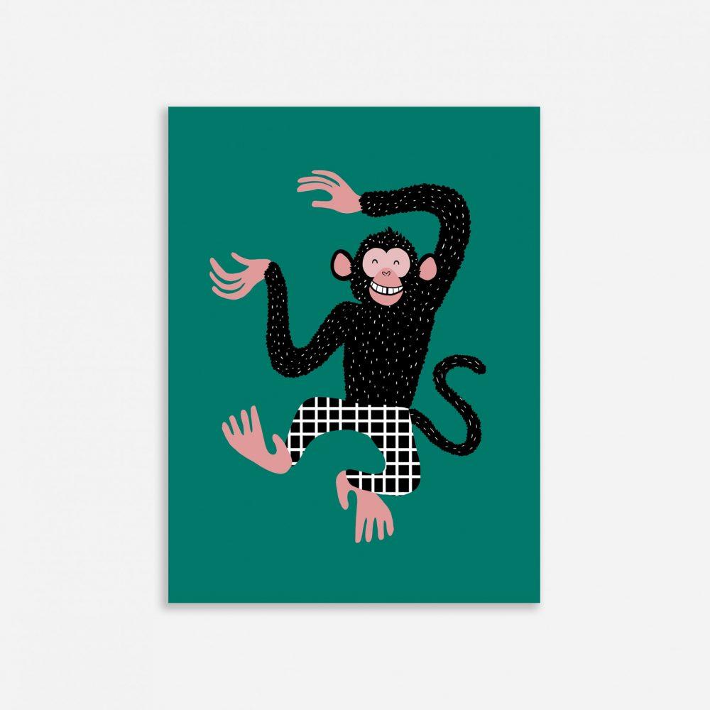 Affiche Shandor Barnabé le chimpanzé