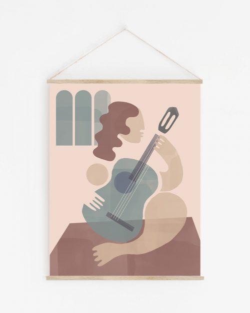 Tenture La Guitariste