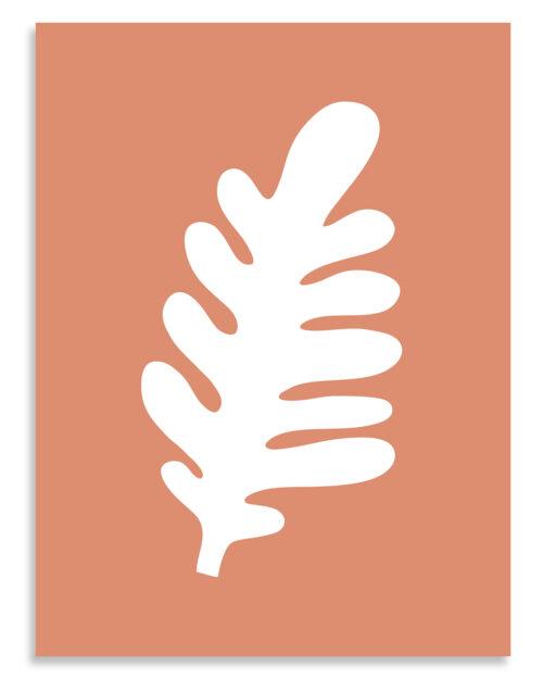 Affiche feuille terracotta