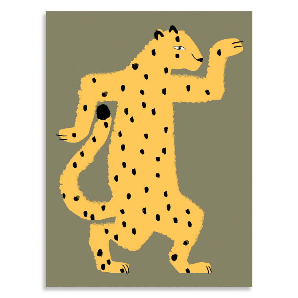 Affiche gaspard le guepard, Made in France