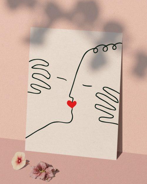 Affiche baiser amour