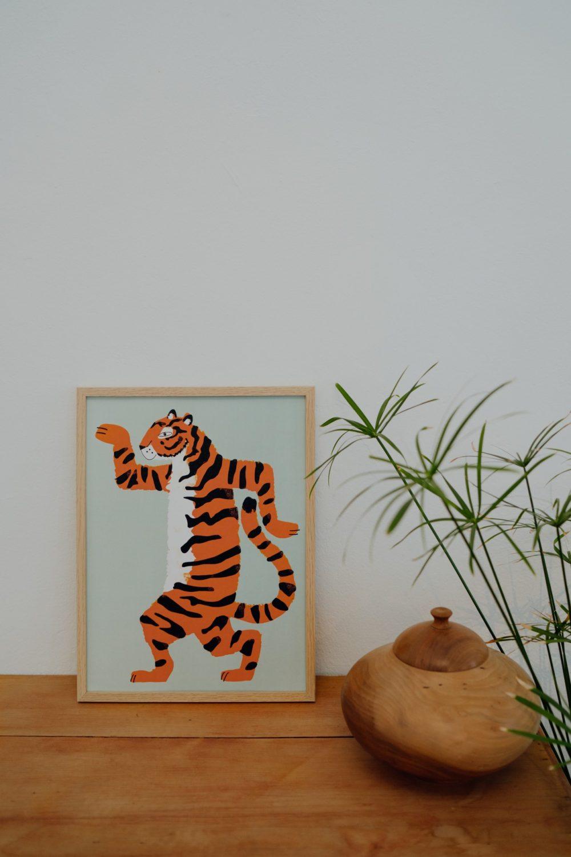 Shandor affiche tigre enfant deco jungle