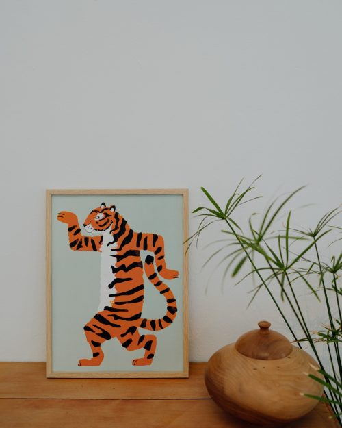 Shandor affiche tigre enfant deco jungle
