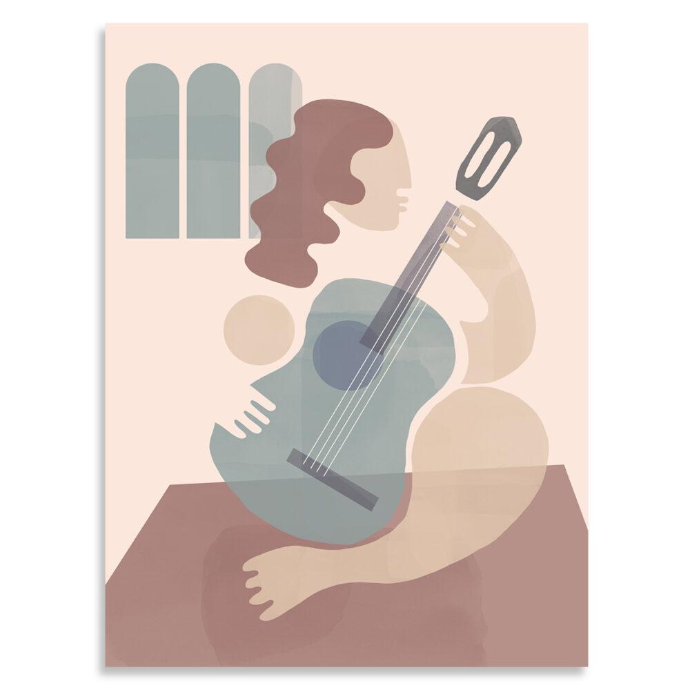 Affiche la guitariste shandor, Made in France