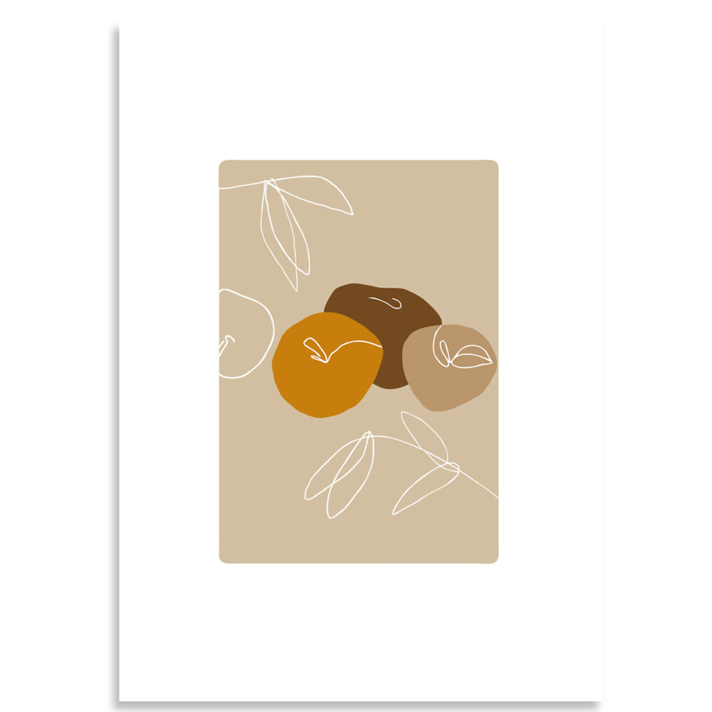 Affiche three apples colors