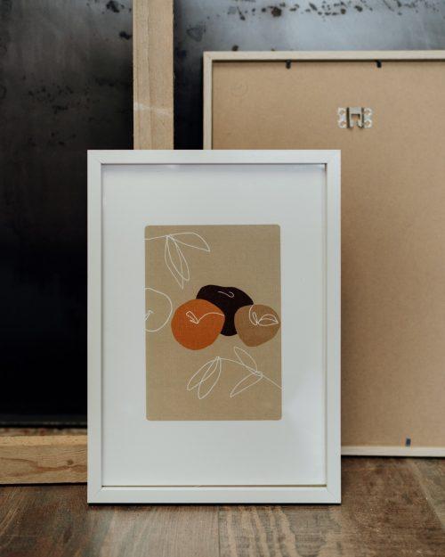 Shandor affiche A4 fruits pommes couleurs