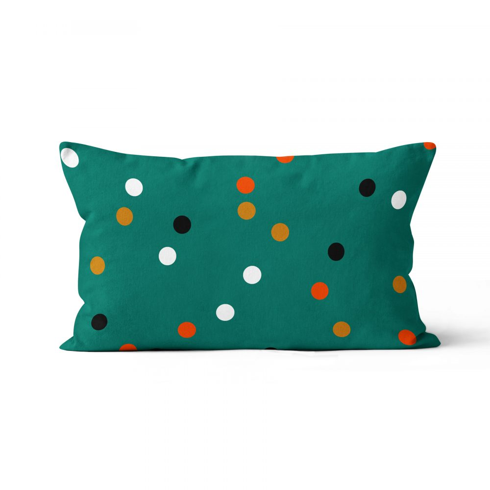 Coussin chien Teckel verso à pois, Made in France