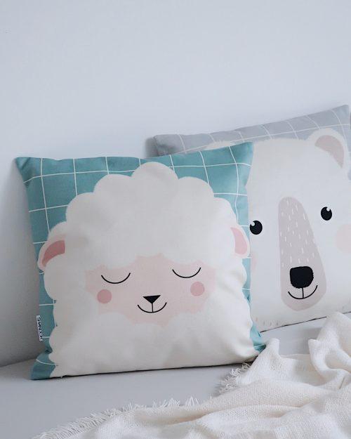 Shandor Coussin mouton pour enfant Lily la Brebis