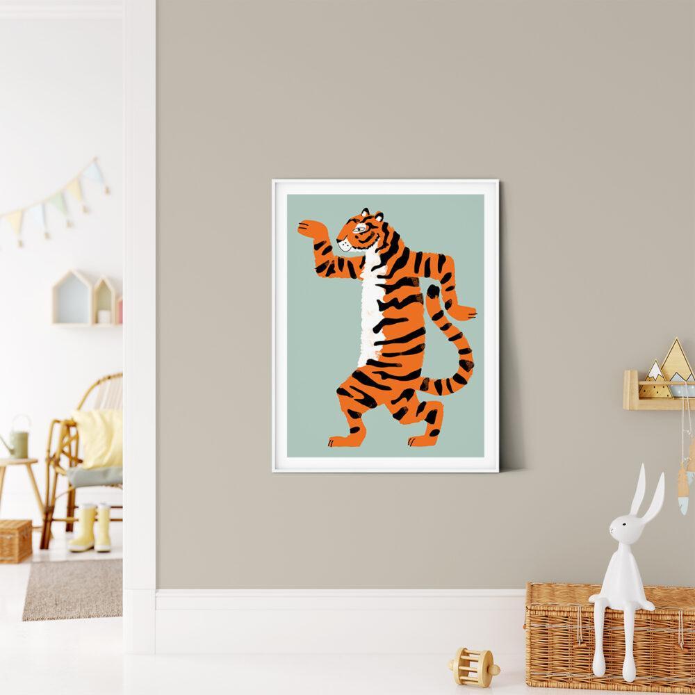 Aristide le tigre illustration chambre enfant, Made in France