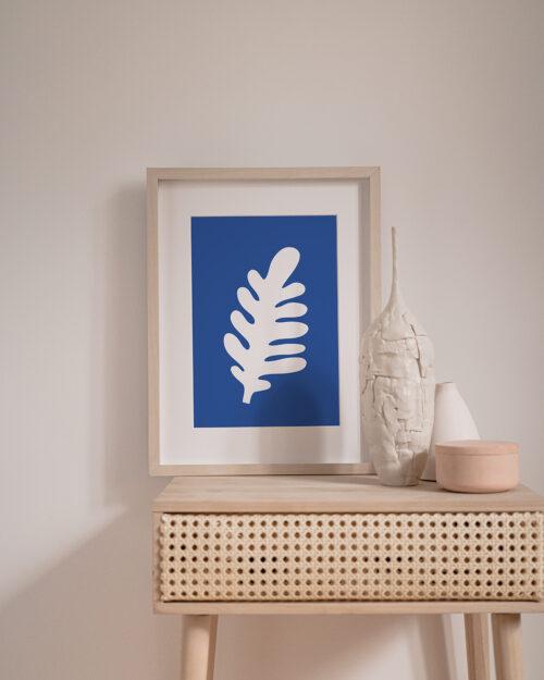 Affiche feuille bleu, Shandor - Made in France