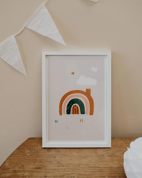 Affiche graphique arc en ciel enfant, Made in France